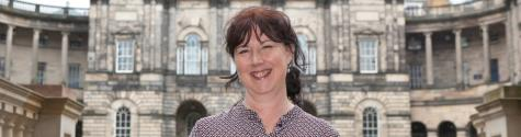 Professor Lesley McAra in the University of Edinburgh's Old College