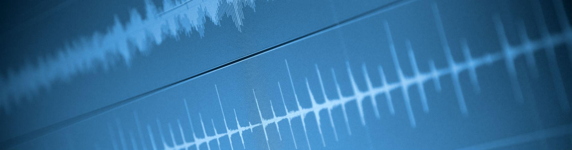 Graphic rendering of sound waves.